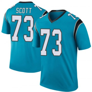 Youth Trent Scott Carolina Panthers Nike Legend Color Rush Jersey - Blue